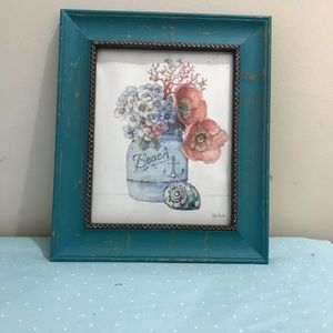 Rustic beach theme framed pictures
